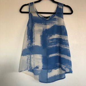 Forever 21 White and Blue Tank Top.